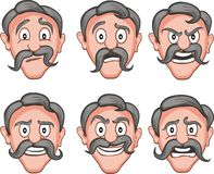 Facial expressions  6 Royalty Free Stock Images