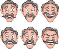 Facial expressions  7 Royalty Free Stock Photos