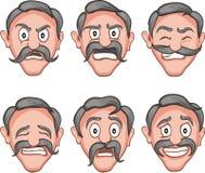 Facial expressions 8 Royalty Free Stock Image
