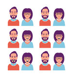 Facial Expressions of Woman and Man Royalty Free Stock Photography