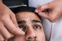 Facial hair removal Stock Photography