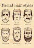 Facial hair styles Royalty Free Stock Photo