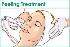 Facial Hydro Microdermabrasion Peeling Treatment Royalty Free Stock Photo