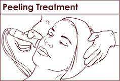 Facial Hydro Microdermabrasion Peeling Treatment vector illustration
