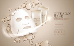 Facial mask ads template Stock Images