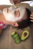 Facial mask application Royalty Free Stock Image