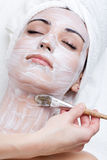 Facial mask of caucasian female Stock Photo