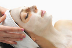 Facial mask in a day spa Royalty Free Stock Photography