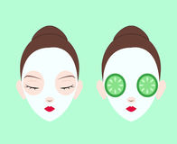 Facial mask set Royalty Free Stock Image