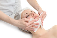 Facial mask wipe Royalty Free Stock Images