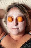 Facial mask woman Stock Image