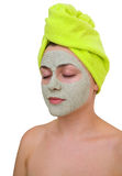 Facial mask for young woman Stock Image