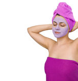 Facial mask for young woman Royalty Free Stock Photos