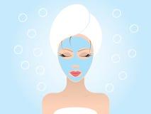 facial maska Obrazy Royalty Free