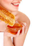 Facial masks of honey. Stock Photography