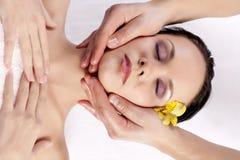 Facial massage Stock Image