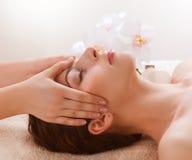 Facial Massage. Dayspa. Facial Massage. Spa Procedures Stock Photo