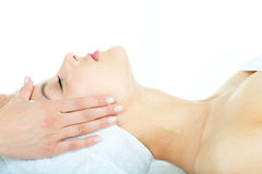 Facial massage royalty free stock photo
