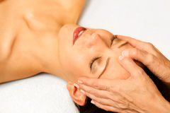 Facial massage Stock Photos