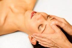 Facial massage stock photos