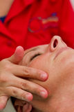 Facial massage Stock Image