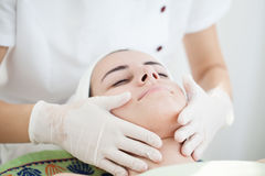 Facial massage Stock Photo