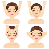 Facial Massage Collection Stock Images