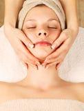 Facial massage at day spa Royalty Free Stock Photo