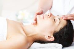Facial massage at day spa