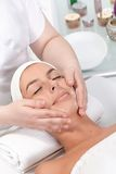 Facial massage in dayspa Stock Image