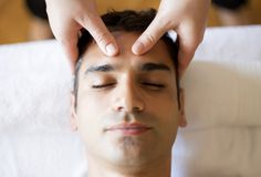 Facial massage Royalty Free Stock Images