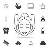 Facial massage icon. Detailed set of SPA icons. Premium quality graphic design. One of the collection icons for websites, web desi royalty free illustration