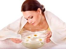 Facial massage in spa. Stock Photos