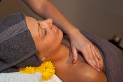Facial massage at SPA salon Stock Photo