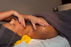 Facial massage at SPA salon Royalty Free Stock Photos