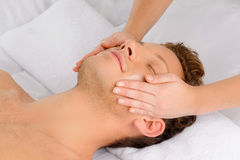 Facial massage. royalty free stock images