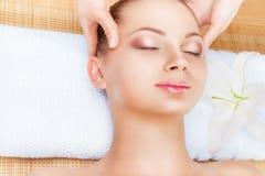 Facial massage Royalty Free Stock Image