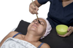 Facial Peeling Mask Application Royalty Free Stock Photo