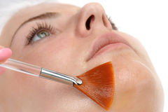 Facial peeling mask applying Stock Photography
