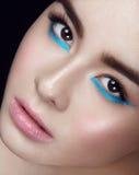 Facial portrait of asian young girl Royalty Free Stock Photos