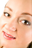 Facial portrait of young woman with make up Royalty Free Stock Photos