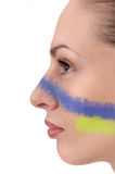 Facial profile of young woman Royalty Free Stock Image
