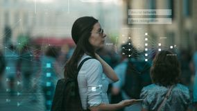 Free Facial Recognition And Search And Surveillance Of A Person In The Modern Digital Age, The Concept. Stock Image - 156301531