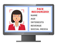 Facial recognition. Biometric identification. Stock Images