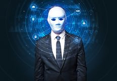 Facial recognition biometric technology Stock Photo