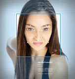 Facial recognition software Royalty Free Stock Image