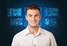 Facial Recognition System concept stock photography