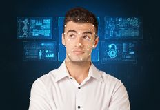 Facial Recognition System concept royalty free stock photography