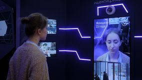 Facial recognition system concept - personal face identification software