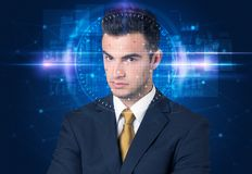 Facial recognition system stock images